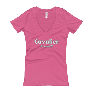 Cavalier Team K9 Cavlife Women's V-Neck Slogan T-shirt