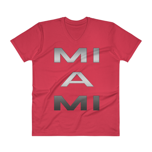 Miami Graphic T-Shirt V Neck Men's sever colors