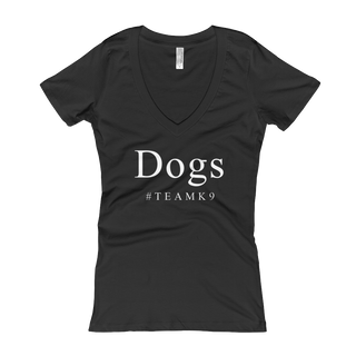 Dogs #TeamK9 Women's V-Neck T-shirt