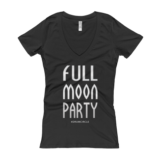 Full Moon Party Shirt Women's V-Neck Lots of Colors to choose.