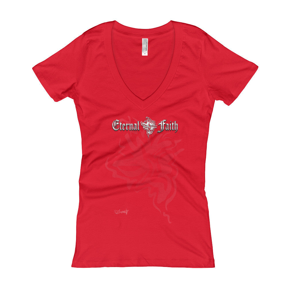 Eternal Faith Logo Women's V-Neck T-shirt