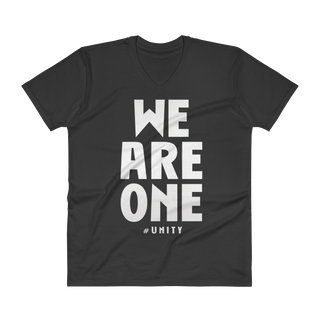 WE ARE ONE V-Neck Slogan T-Shirt