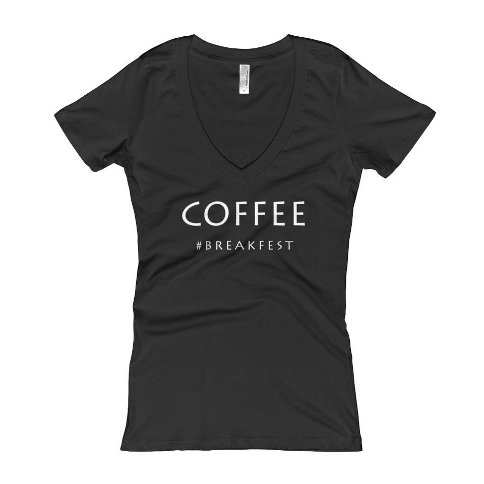 Coffee Slogan Women's V-Neck T-shirt