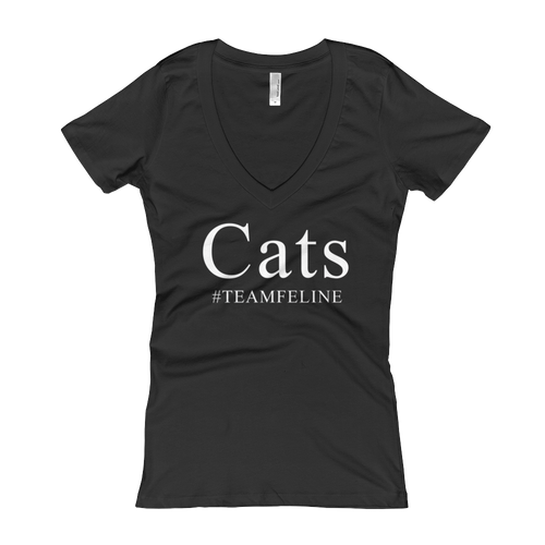Cats #TeamFeline Women's V-Neck T-shirt