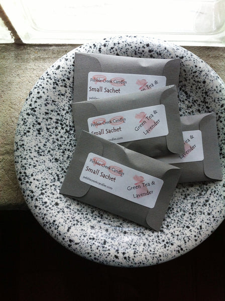 Grey Mini Sachets over 100 Scents to Pick From - Pebble Creek Candles