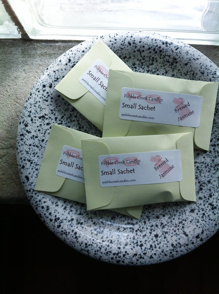 Jasmine Scented Sachets Favors Seed Packets - Pebble Creek Candles