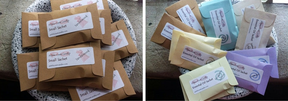 mini sachets in your choice of fragrance oils OR all natural essential oils