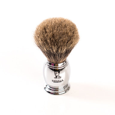 IFM Shaving Brush Pure Badger Chrome Hand.