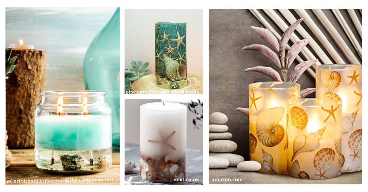ocean themed candles