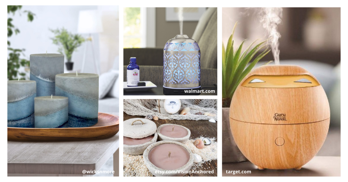 ocean-scented-candles-and-essential-oil-diffuser