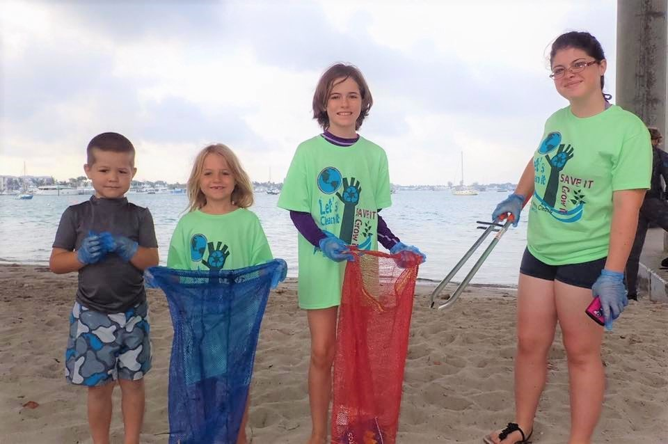 kids beach cleanup competition