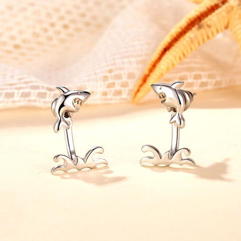 Image of Shark Earrings