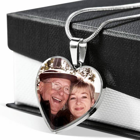 Image of Personalized Photo <br/> MEMORIAL Heart Necklace