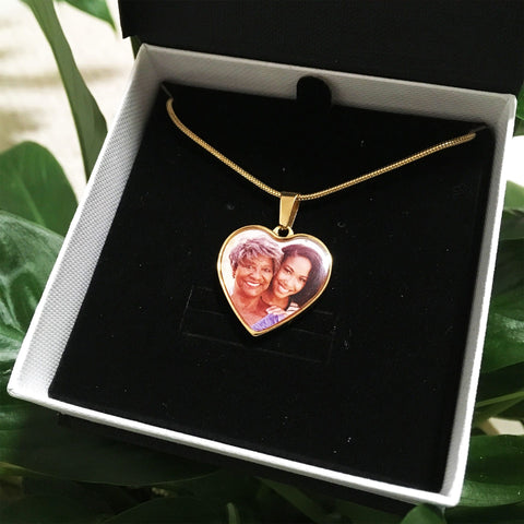 Personalized Photo Heart Necklace