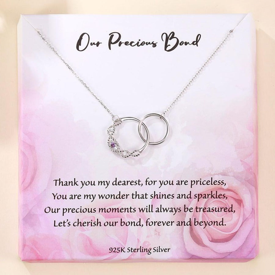 'Our Precious Bond' - Sterling Silver Necklace