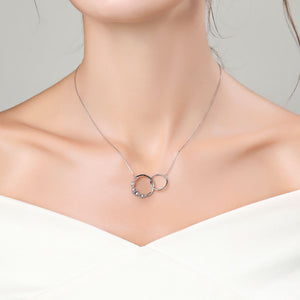'Our Precious Bond' <br/> Sterling Silver Necklace