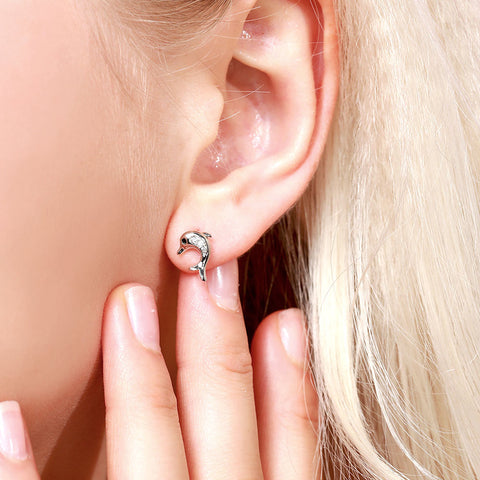 Image of Dolphin Earrings