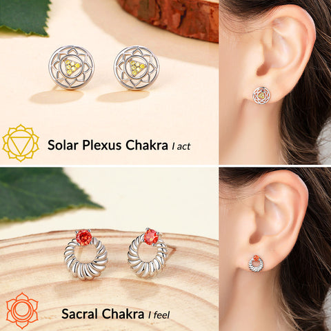 Image of 'Wonders of The 7 Chakras' Earrings Set