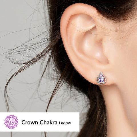Image of Crown Chakra Earrings <br/> (I Know)