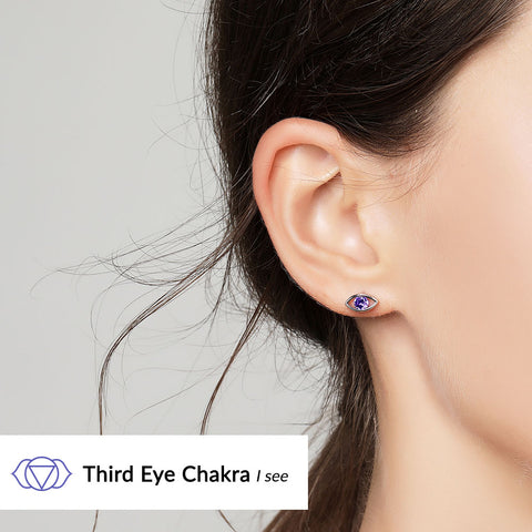 Image of Third Eye Chakra Earrings <br/> (I See)