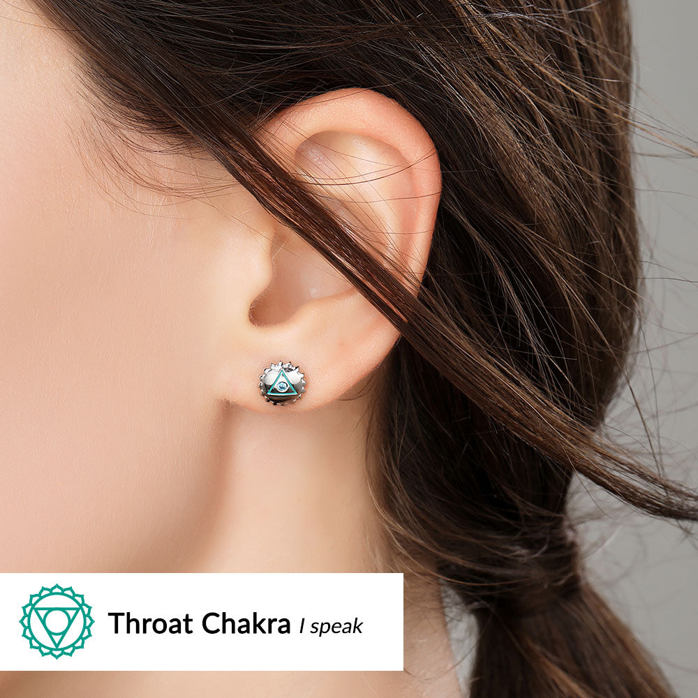 (I Speak) Throat Chakra Earrings