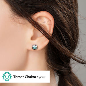 Throat Chakra Earrings <br/> (I Speak)
