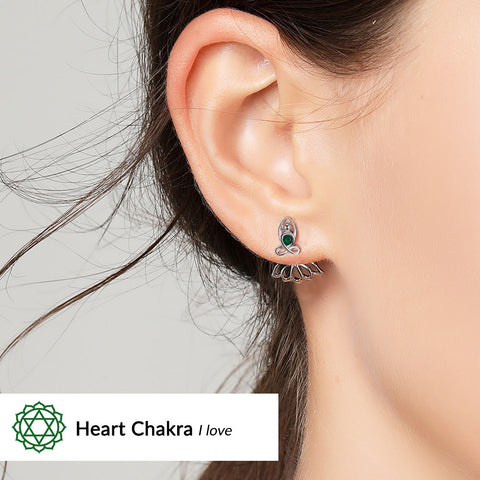 Image of Heart Chakra Earrings <br/> (I Love)