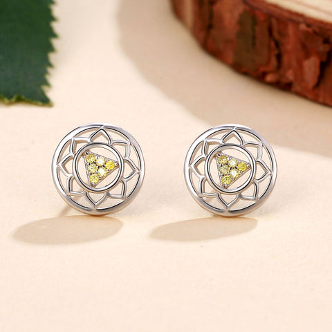 Image of Solar Plexus Chakra Earrings <br/> (I Act)