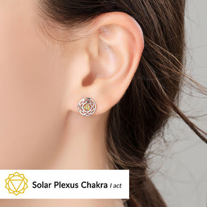 Solar Plexus Chakra Earrings <br/> (I Act)