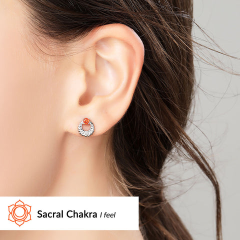 Image of Sacral Chakra Earrings <br/> (I Feel)
