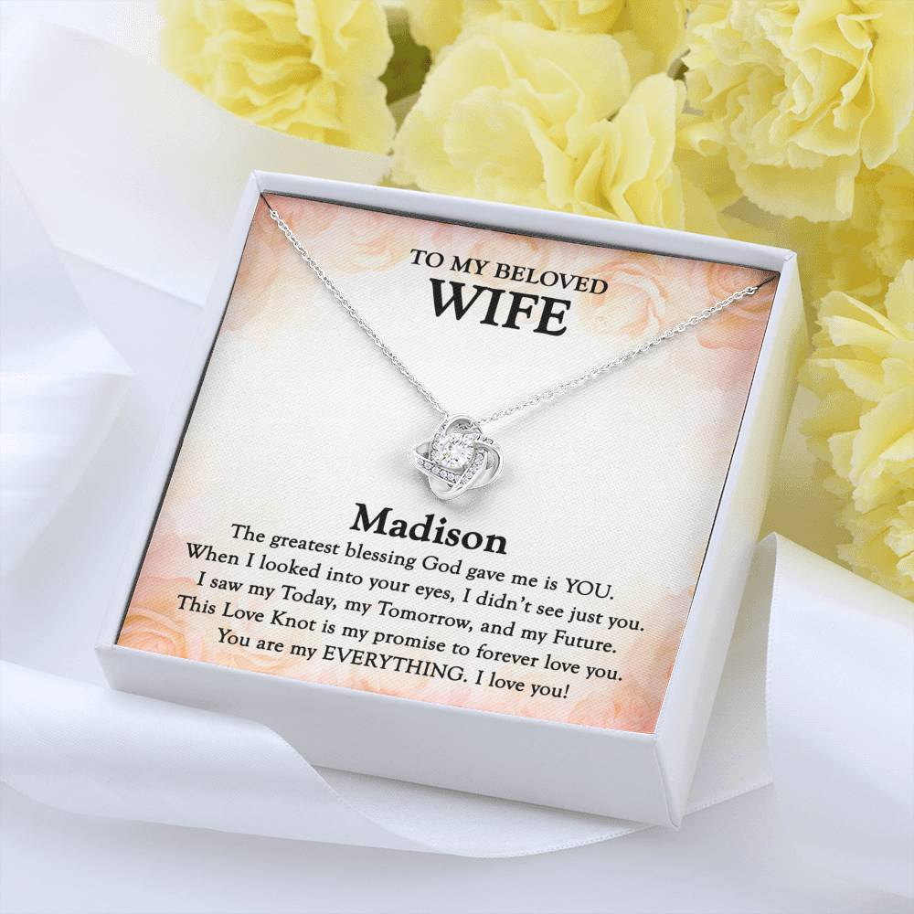 TO MY WIFE - 'My Promise' Love Knot Necklace