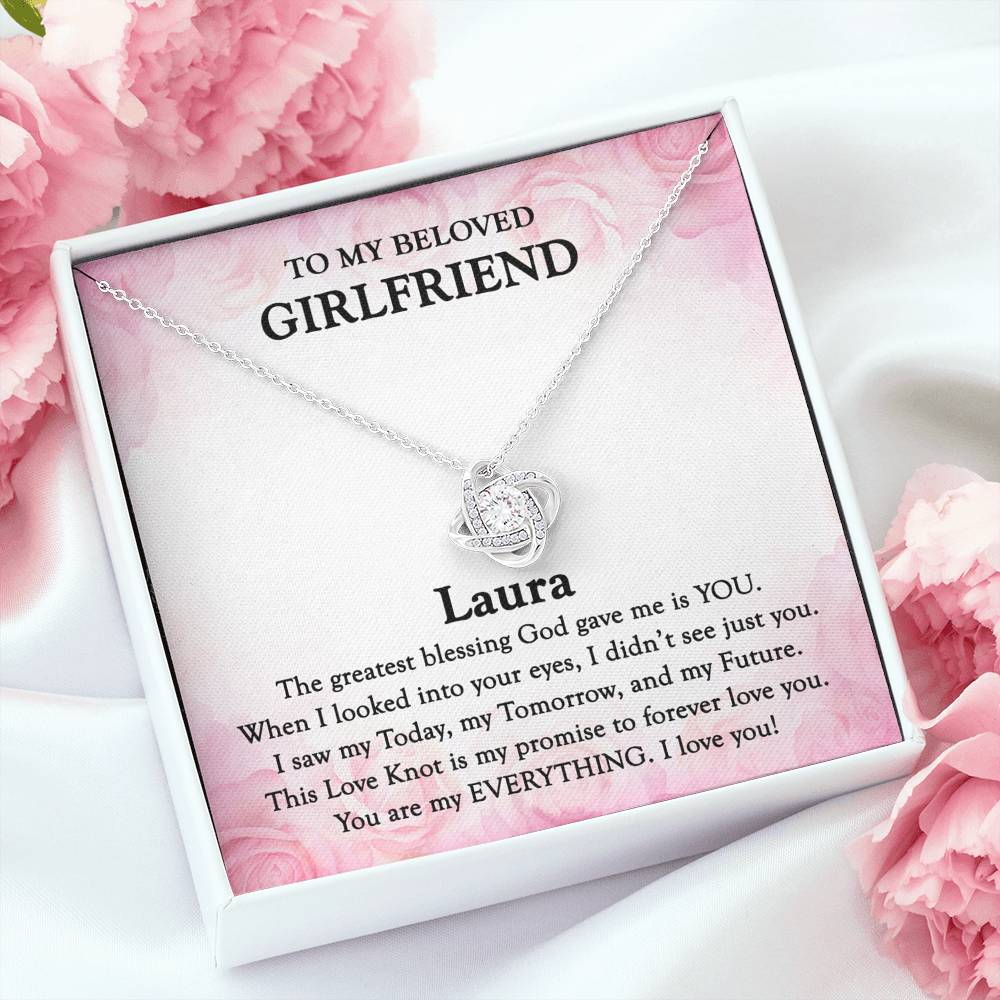 TO MY GIRLFRIEND - 'My Promise' Love Knot Necklace
