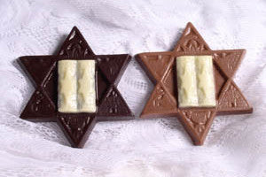 Snowflake Chocolates - Star of David Dark Chocolate