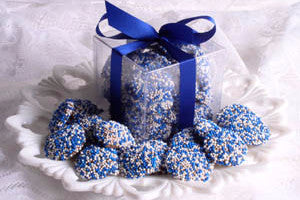 Snowflake Chocolates - Hanukkah Nonpareils Dark Chocolate
