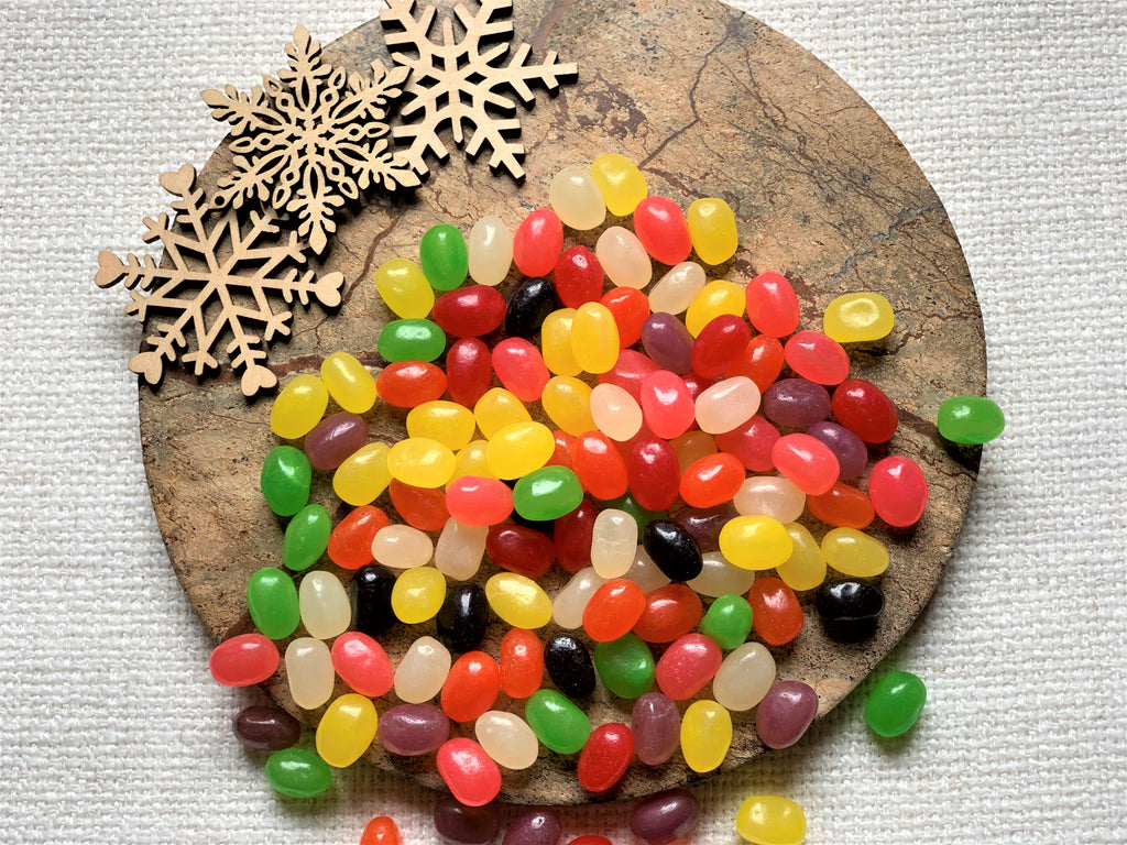 Pectin Fruit and Licorice Flavored Jelly Beans
