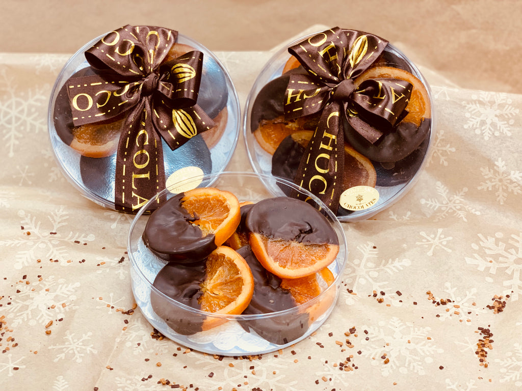Chocolate Dipped Glace Orange Slices