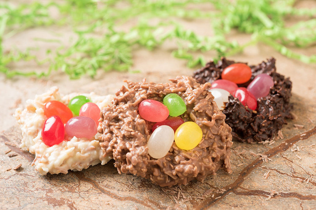 Coconut Jelly Bean Nests