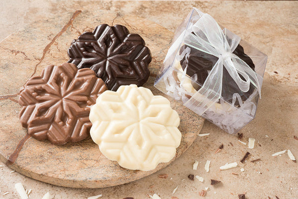 Trio of Chocolate Snowflakes