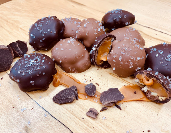 Sea Salt Caramel Pecan Turtles