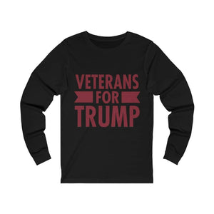 Veterans for Trump Men's Jersey Long Sleeve T-Shirt