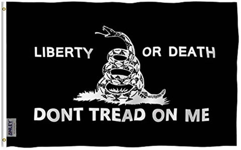 Liberty Or Death Gadsden Flag Don't Tread On Me Polyester Flag - Trumpshop.net