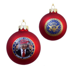 President Donald Trump Ornament 80mm Glass Christmas Holiday Trump Ball Ornament