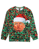President Donald Trump Ugly Christmas Sweater Pullover Sweatshirt - Trumpshop.net