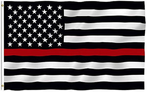 Thin Red Line USA Polyester Flag