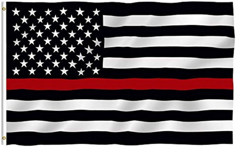 Thin Red Line USA Polyester Flag - Trumpshop.net
