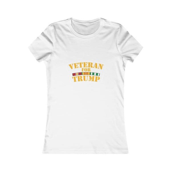 Veteran for Trump Softstyle Ladies' T-Shirt - Trumpshop.net