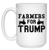 Farmers For Trump 15 Oz. White Mug