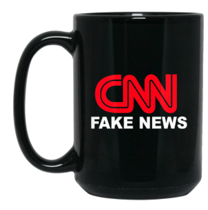 CNN FAKE NEWS 15 oz. Black Mug - Trumpshop.net