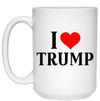 I LOVE Trump 15 oz. White Mug