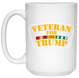 Veteran for Trump 15 oz. White Mug - Trumpshop.net